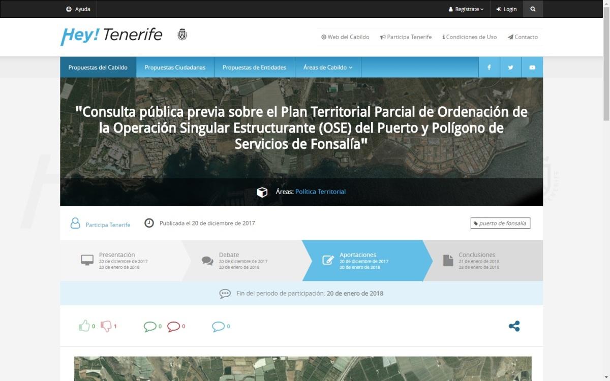 Abierta a la participación ciudadana el proyecto de desarrollo del Puerto de Fonsalía, en Guía de Isora